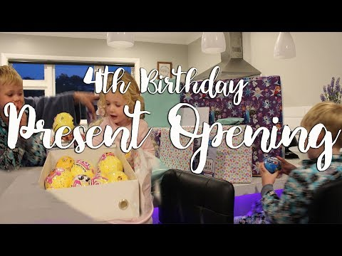 OPENING PRESENTS! | MilaRoses 4th Birthday