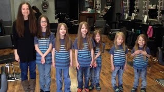 Mom and 6 Sons Donate a Combined 17 Feet Of Hair After Friend Dies of Cancer