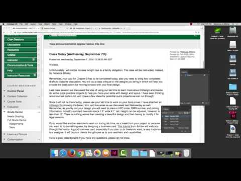 How to Package InDesign Files and Turn in through Blackboard