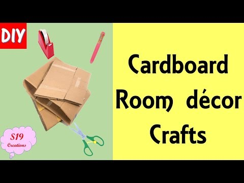 DIY | Cardboard Room Decor crafts | Cardboard crafts |Best Out of Waste ideas | Photo collage
