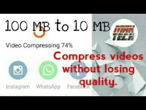 How to reduce video size from 100 % to 10% without losing quality​ by compressing | in Hindi