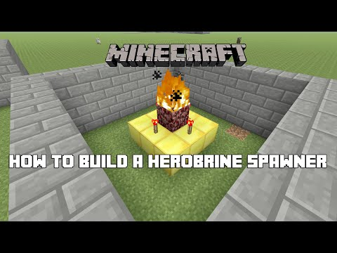 Minecraft: Xbox & PS3, PS4 - How to Build a Herobrine Spawner Tutorial (HOW TO SPAWN HEROBRINE!)