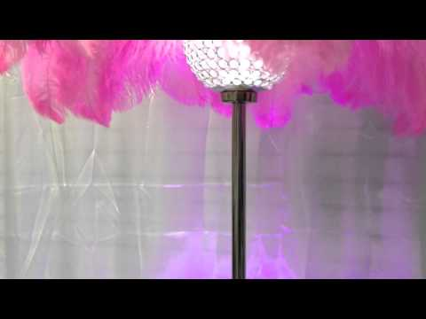 Crystal ball feather centerpieces