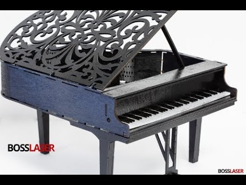 DIY Laser Cut Model Wood & Acrylic Grand Piano -  File Download