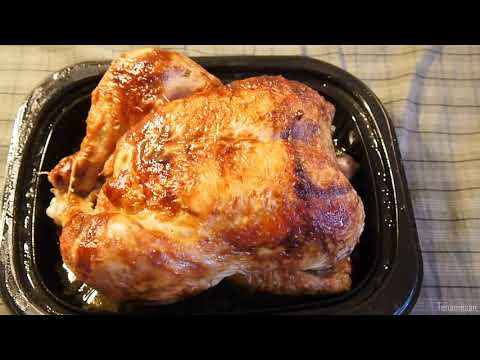I brought home Costco's Seasoned Rotisserie Chicken - super tender