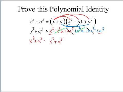 Prove Polynomial Identities