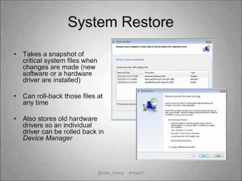 Troubleshooting Windows 7 Webcast - Part 1 of 4