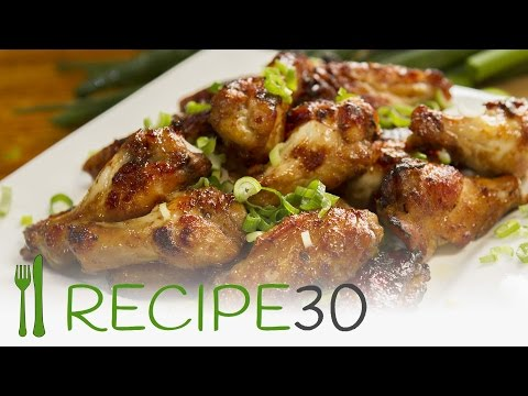 HONEY AND SOY STICKY CHICKEN WINGS recipe