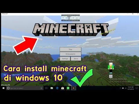 INI DIA !! CARA INSTALL MINECRAFT WINDOWS 10 (BEDROCK EDITION)