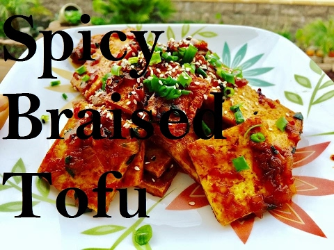 Korean Spicy Braised Tofu