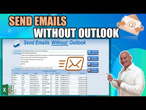 How To Send Emails using Excel WITHOUT Outlook