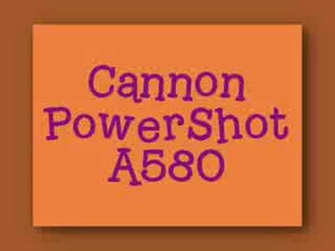Cannon PowerShot A580 - Testing 1 2 3 !