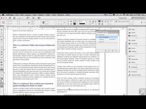 Adobe InDesign CS6 Tutorials | Paragraph Styles | InfiniteSkills