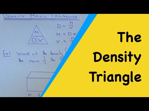 How To Use The Density, Mass And Volume Magic Triangle.