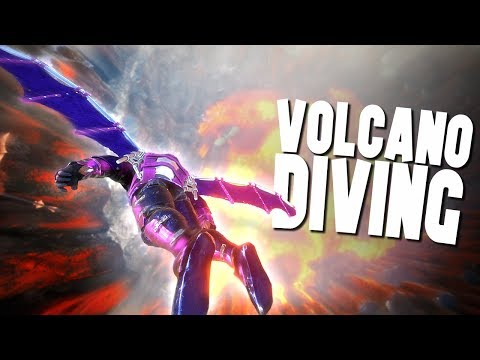 DIVING OF THE VOLCANO SUMMIT! - Ark Survival Evolved (Modded)