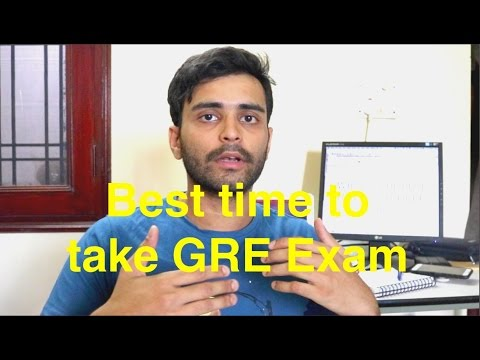 Best time to take GRE Exam | MS in US