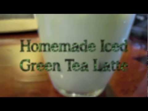 Cooking: Homemade Iced Green Tea Latte