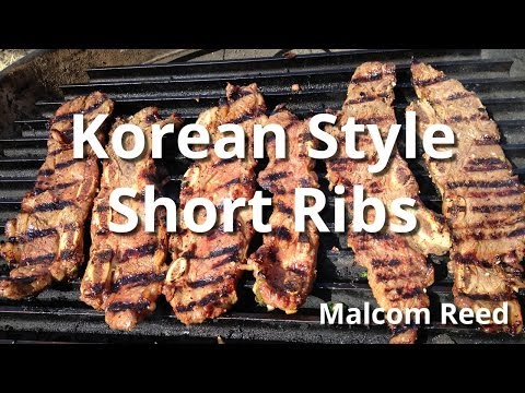 Korean Short Ribs Recipe | Grilled Beef Short Ribs with Malcom Reed HowToBBQRight
