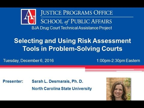 Selecting and Using Risk Assessment Tools in Problem Solving Courts