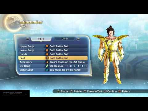 DRAGON BALL XENOVERSE 2-How to unlock GOLD BATTLE SUIT