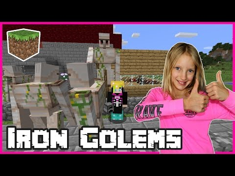 Making Iron Golems / Minecraft