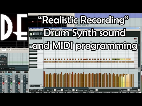 Realistic Virtual Drums and MIDI programming - Concept and Thought Process