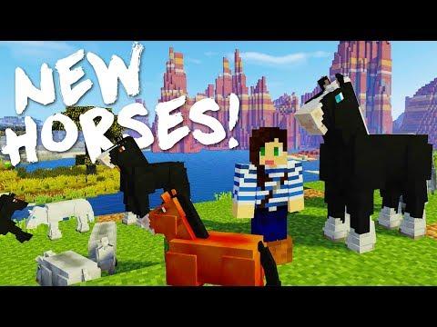 NEW MINECRAFT DRAFT HORSES MOD!