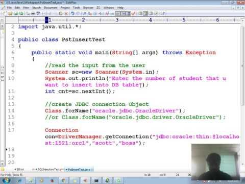 23 Advanced java tutorial | Java Prepared Statement Insert Multiple Record in database | adv java