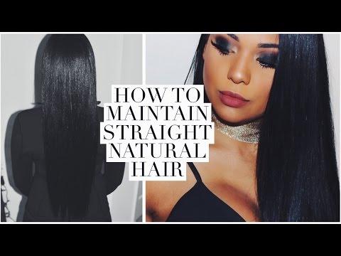 How I Preserve My Straight Hair for 30 DAYS!   Ashley Bond Beauty