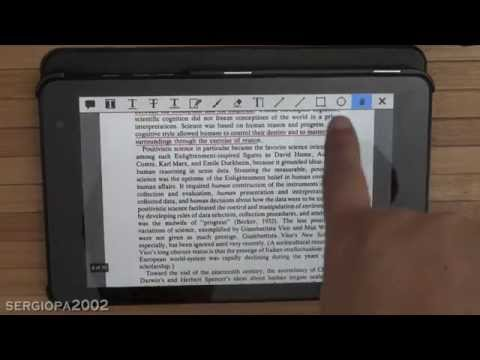 Xodo the best application to read, annotate and highlight PDF files on a Windows Tablet