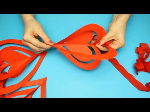 3D Paper Heart Decorations For Valentine's Day or Wedding / Quick and Easy Heart  Decor DIY
