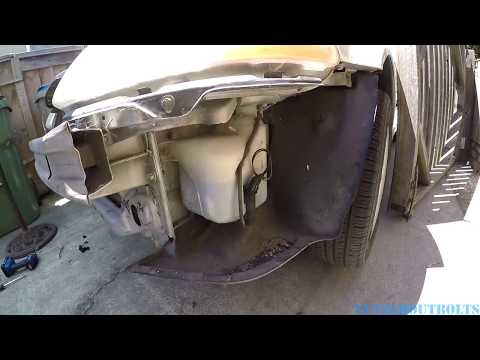 1996-2000 Honda Civic washer bottle remove and install