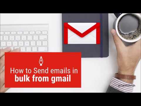 how to send bulk emails using gmail  in english