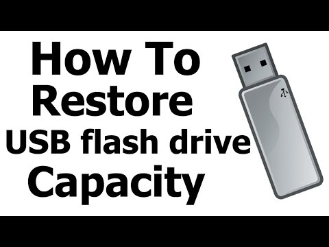 Restore USB flash Drive Capacity | Format Unallocated Space How To