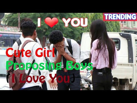 Cute Girl Proposing (I Love You) To Boys - Prank 2017   LAUGH OUT LOUD NEPAL  