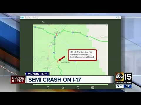 Semi-crash on I-17 causing traffic