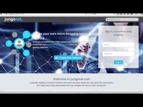 How to create your own social network using jungonet.com