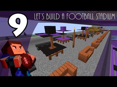 Minecraft Creative: Let's Build a Football Stadium | EP9 | Tiki Bar & Picnic Area