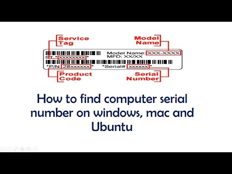 How to find computer serial number in Windows, Mac and ubuntu | Hindi