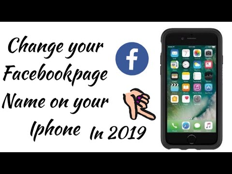 Change your Facebook Page Name In 2019