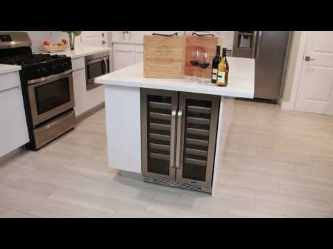Whynter Elite Seamless Stainless Steel Door Built-in Wine Refrigerator Featuring Model BWR-401DS