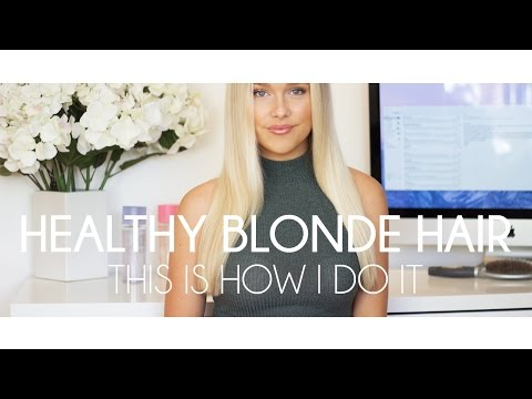 How to get healthy blond hair I Hair care, colouring etc.