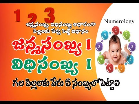 Baby Names By Date Of Birth Numerology | జన్మ,విధి సంఖ్యల ద్వారా పిల్లలకు ఏ సంఖ్యలో పేర్లు పెట్టాలి