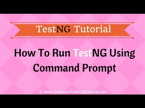 Run TestNG Test Using Command Prompt