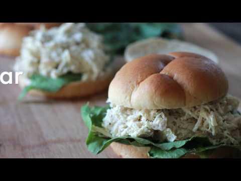 crockpot chicken caesar sandwiches