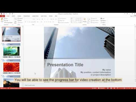 How to put a PowerPoint file on YouTube