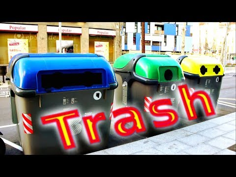Good waste management example from Barcelona.