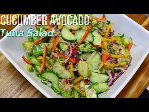 Best Cucumber Tuna Avocado Salad With Sweet Peppers