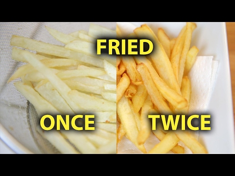 Once vs Twice Fried French Fries | BeatTheBush