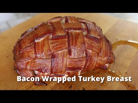 Bacon Wrapped Turkey Breast | Smoked Boneless Turkey Breast on Big Green Egg